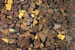 Kokosschalewand Stockfoto