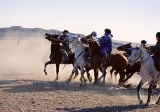Kokpar - jogo do cavalo. imagem de stock royalty free