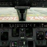 Kokpit CRJ 200 Obraz Stock