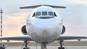 Kokpit dżetowy Yak-46d przy lotniskiem na vletnoy zespole zbiory wideo