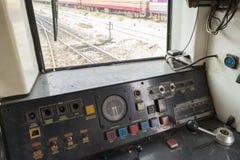Kokpit Tajlandzki pociąg Zdjęcia Stock