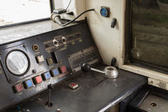 Kokpit Tajlandzki pociąg Obrazy Stock