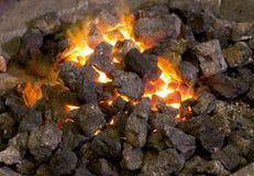 Koks Burning lizenzfreie stockfotografie