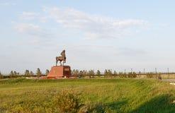 Kokshetau Kazachstan, Sierpień, - 11, 2016: Końska rzeźba przy Obrazy Stock