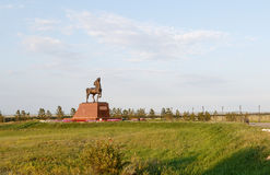 Kokshetau, Kazakhstan - August 11, 2016: Horse sculpture at the. Entrance to the city Stock Images