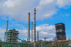 Koksownia z aktywnego gazu pochodnią Zdjęcie Stock