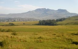 Kokstad townscape. The town of Kokstad in southern KZN lies nestled in a shallow valley Royalty Free Stock Photos