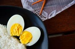 Kokt ägg Fotografering för Bildbyråer