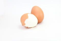 kokt ägg Arkivfoton