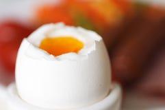 kokt ägg Arkivbilder