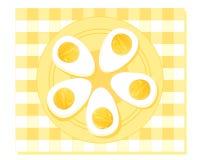 kokt ägg hard Fotografering för Bildbyråer
