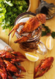 Kokt Crawfish Royaltyfri Fotografi