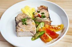 kokt fisk Arkivfoto