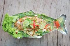 Kokt fisk eller ångad fisk Royaltyfri Fotografi