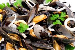 kokt musslor Arkivbilder
