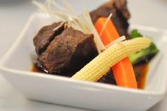 Kokt nötkött eller kokt griskött Royaltyfria Foton