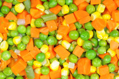 kokt tärnade grönsaker royaltyfri foto