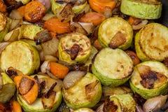 Kokt zucchini och kryddor Royaltyfri Bild
