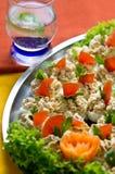 Kokta ägg med fiskkrämtoppning Royaltyfri Foto