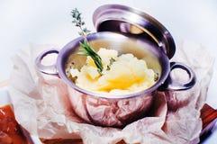Kokta mosade potatisar Fotografering för Bildbyråer