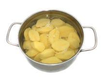 Kokta potatisar för Bio barn Royaltyfria Foton