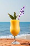 Ananasowy i mangowy sok Zdjęcia Royalty Free