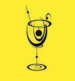 Koktajl ilustracja szklana abstrakcjonistyczna Fotografia Stock