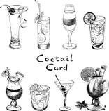 Koktajl karta Obrazy Royalty Free