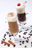 koktajl kawa dwa grzałki Obraz Royalty Free