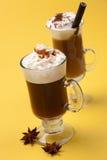 koktajl kawa dwa grzałki Zdjęcie Royalty Free