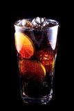 Koktajl Long Island Zamrażał herbaty na czarnym tle Obraz Stock