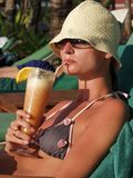 koktajl na plaży Fotografia Royalty Free
