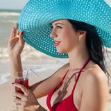 Koktajl na plaży Zdjęcia Royalty Free