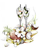 koktajl owoc royalty ilustracja