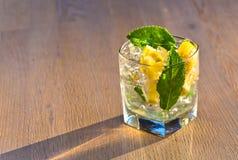 Koktajl z cytryny i miętówki liśćmi Obrazy Stock