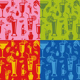 koktajle deseniują bezszwowego Obrazy Royalty Free