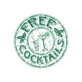 koktajle uwalniają znaczek Zdjęcie Stock