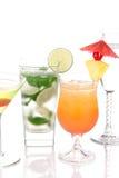 koktajli/lów Martini mojito wschód słońca tequila Zdjęcie Stock