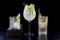 Koktajli/lów napojów napojów tła pokój dla teksta Zdjęcie Stock