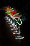 koktajli/lów szkła Martini Zdjęcia Stock