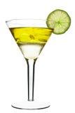 koktajlu alkoholiczny kolor żółty Fotografia Royalty Free