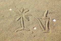 koktajlu piasek rysunkowy szklany Zdjęcie Royalty Free