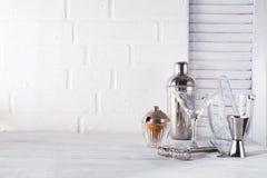 Koktajlu potrząsacz dla przygotowywać lato koktajl z może używać dla pokazu lub montażu twój produkty Zdjęcia Royalty Free