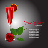 koktajlu różany szablonu wektor Fotografia Royalty Free