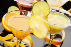 koktajlu sok owocowy szklany Fotografia Royalty Free