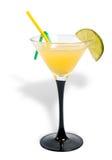 koktajlu szkła pomarańczowa mała ajerówka Zdjęcia Royalty Free