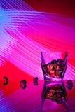 Koktajlu whisky szkło z kawałka lodem Obrazy Royalty Free
