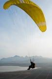 koktebel滑翔伞飞行员 免版税库存照片