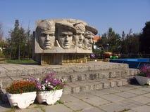 Monument to fallen Soviet soldiers in Koktebel, Ukraine royalty free stock photo