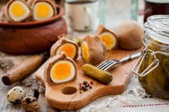Kokurki, Rye Dough Wrapped Hard Boiled Eggs Royalty Free Stock Images
